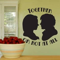 Together or Not at All  Dr Who  Wall Vinyl  Medium by WallsOfText, $19.95