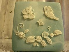 Blue Incolay Type Trinket Box ButterflIy by PrettyLilThings1912, $10.00