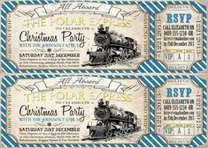 possible polar express party invites!