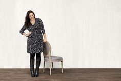 Animal Wrap Dress With Zippers. Nothing wows feminine curves like the perfect-fitting wrap dress! #LaneBryant