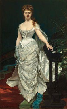 Mademoiselle X, Marquise Anforti by Charles-Émile-Auguste Carolus Duran, 1876, Musée Cambrai
