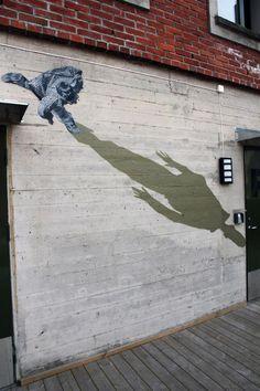 Mystifying Illusions of People Walking Sideways on Walls - My Modern Metropolis