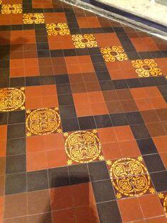 Tile floor in St. Patricks, Dublin, Ireland