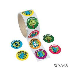 Save The Earth Roll Stickers! I want!!