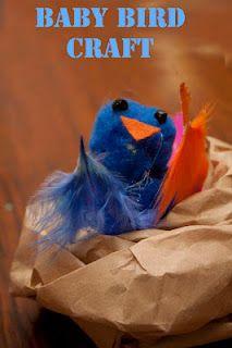 Cute little baby bird craft for kids