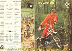 1974 Bultaco Sherpa T 250 and 350 motorcycle brochure w/ photos  specs