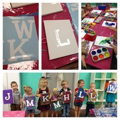 Kid's Art Themed Birthday Party With Initial & Paint Canvas