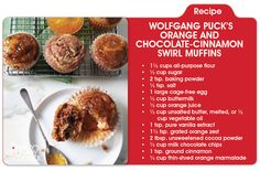 Brunch is served! Wolfgang Puck's amazing Orange & Chocolate-Cinnamon Swirl Muffins, on mBLOG