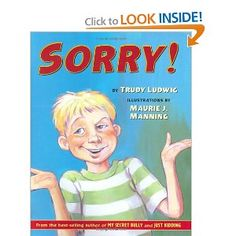 Book about showing your sorry, not just saying it.