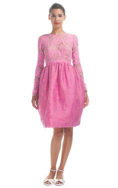Shop Honor Pink & Fuchsia Broken Stripe Jacquard Bustier Dress at Moda Operandi