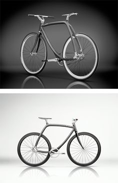 Rizoma 77|011 Metropolitan Bike by Dirk Bikkembergs - Beautiful carbon-fibre and aluminium bicycle created by fashion designer Dirk Bikkembergs for Italian manufacturer Rizoma. The 77|011 has no upright in the diamond-shaped frame and weighs just eight kilos.