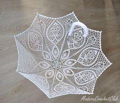 Wedding lace white umbrella,  victorian style,