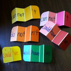 My contraction paint strips :)