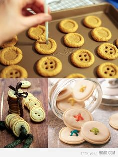 button cookies...cute as a button!!