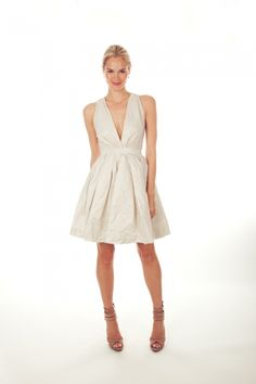 NEED this short nicole miller wedding dress!  the perfect silhouette!