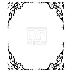 Ornate floral frame, download royalty-free vector clipart (EPS)