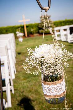 Shepherd's Hooks for the wedding aisle