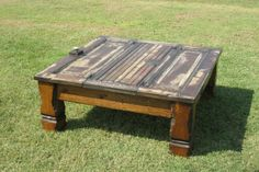 coffee table....made from recycled old doors..love it! coffee tables, crafti, beauti work, coffe tabl