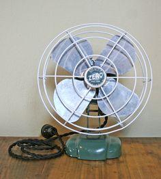 Vintage Zero Electric Industrial Fan