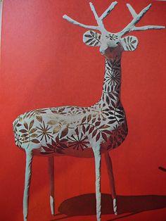 paper mache deer :: love this! !