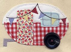 love this caravan appliqué