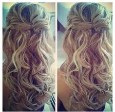 Beautiful cascading curls