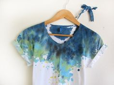 splash dye tee on etsy