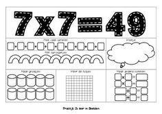 Tafelsom 7x749 2 leren van tafels
