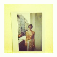 Polaroid from Sonia Rykiel shoot in Paris Model: Karley Parker
