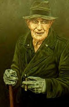 Old Cliff Godfrey.....he lived in Matoaka, West Virginia. Kind old face, a little touched, always had a cigar and a walking stick.  Portrait by Shucks studio of Princeton, WV.