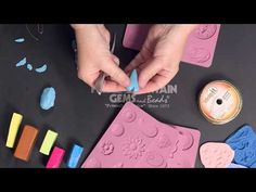 Creating Embellished Polymer Clay Hearts Using Molds - YouTube