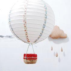tutorial: DIY paper lamp hot air balloon mobile
