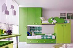 kid bedrooms, color, bunk beds, bedroom furniture, boy rooms, kid rooms, kids, green room, bedroom designs