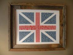 British Pubs Union Jack Flag Print, $22