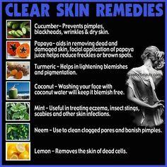Clear skin remedies.