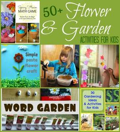50+ Flower & Garden Activities for Kids
