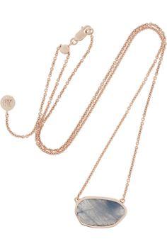 Monica Vinader Siren rose gold-plated labradorite necklace