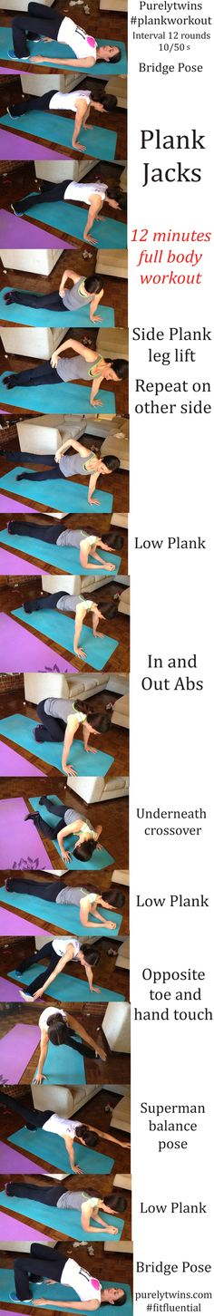 12-minute #plankworkout #fitfluential #abs