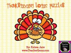 Want to improve your students higher-order thinking skills in a fun and creative way? Use these Thanksgiving logic puzzles to do just that! There are 5 logic puzzles included. Each puzzle includes a story and 5 clues. #TpT #TeacherGems #CriticalThinking
