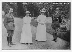 King George of Great Britain, Queen Elisabeth of Belgium, Queen Mary of Great Britain, and King Albert of Belgium