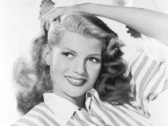 vintag, histori, rita hayworth, pinup photoshoot, classic beauti
