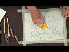 How to - Reverse pastel (instead of oil paint) painting for kids...using acetate and colored foil instead of glass.