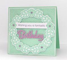 floral frame birthday card