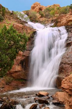 Faux Falls, Ken's Lake Campground and Recreation Area, BLM - near Moab, Utah