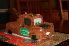 Tow Truck Cake.