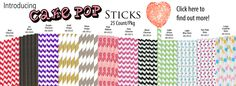 CK Cake Pop Sticks - add some color to your cake pops, perfect with CK Cake Pop Press & Molds.