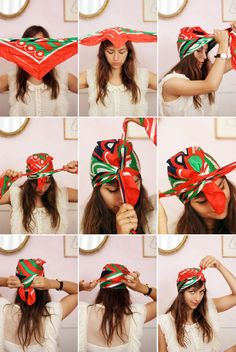 Turn a Head Scarf into a Turban | How To Get Summer's 27 Best Hairstyles