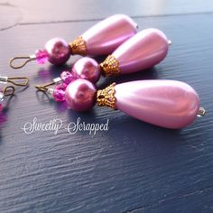 Purple Beaded Charms.... Jewelry Design DIY by SweetlyScrappedArt, $3.75