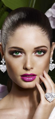 heart, diamonds, makeup, lip colors, high jewelri, green eyes, beauti, graff diamond, ad campaigns