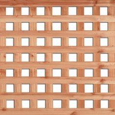 Cedar - 4 Feet x 8 Feet Western Red Cedar Square Lattice - 195729272 - Home Depot Canada $43.38